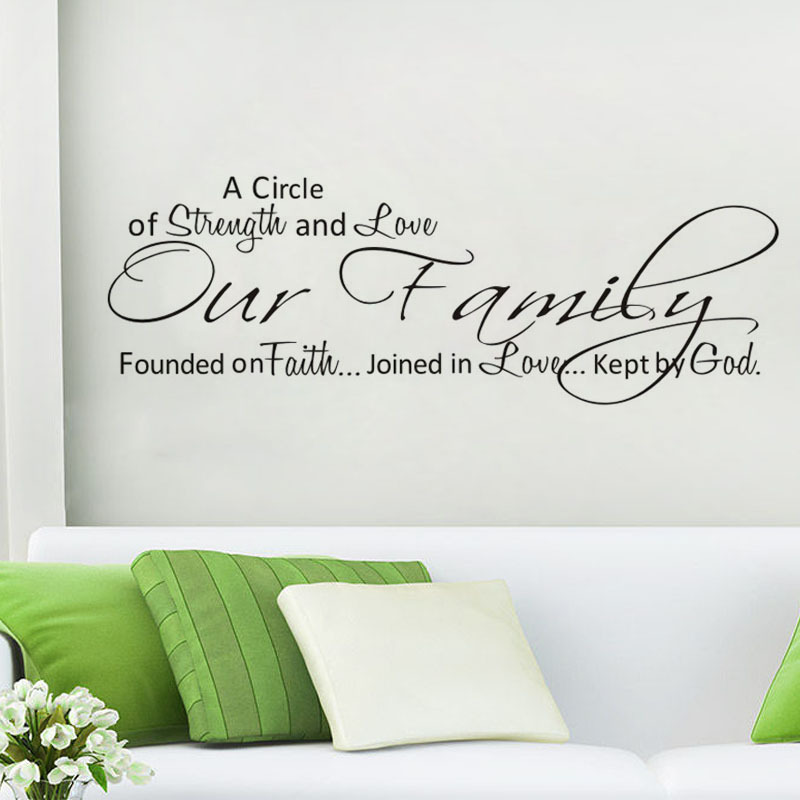 Attach to the wall a circle of strength&love sell wallpaper home decor custom DC0044 Wholesale