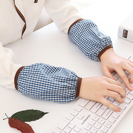 5335 long waterproof sleeves adult sleeves ladies sleeves double plaid thin section autumn and winter sleeves
