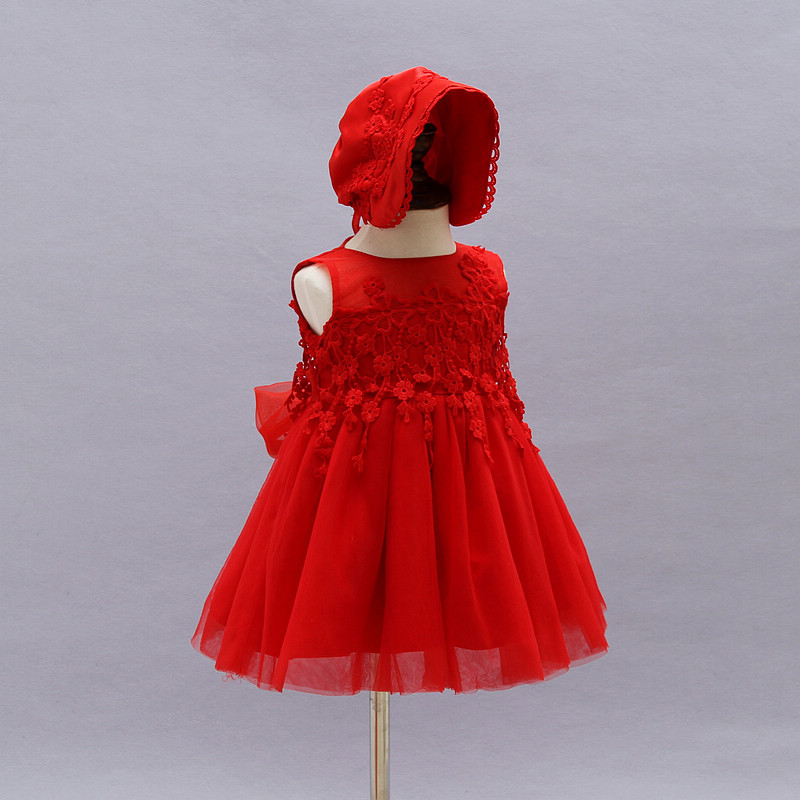 32aeb4e69b 2019 Baby Girl Baptism Christening Gowns Dresses + Hat For 0 2T ...
