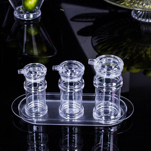 Nhà máy trực tiếp acrylic chai dầu nhựa trong suốt của dấm nước tương chai LeakProof chai vàng chai gia vị bán buôn Gia vị
