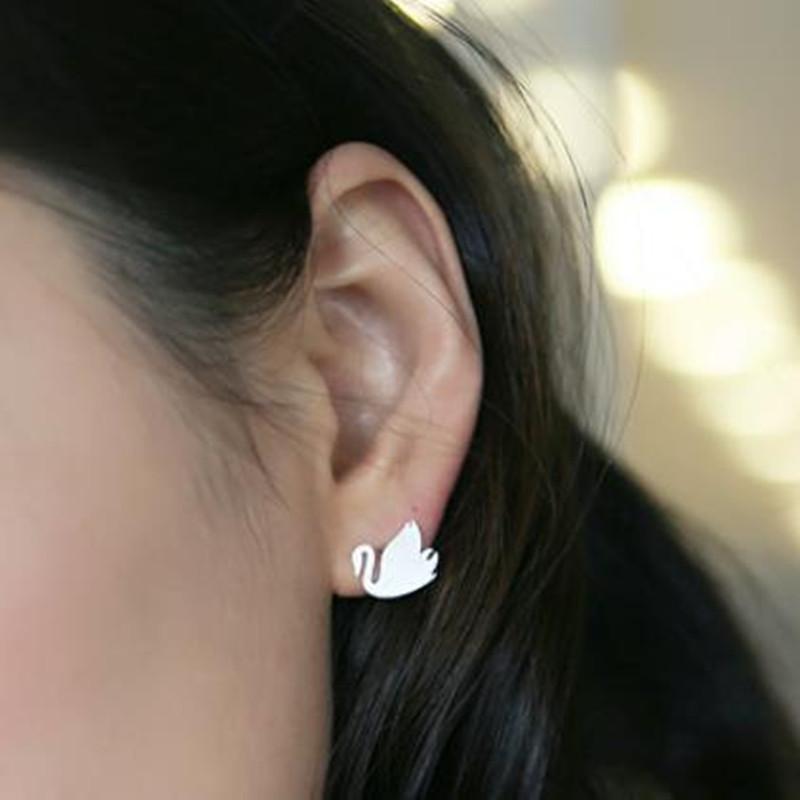 Best selling earrings alloy plating handmade smooth goose goose earrings animal earrings wholesale NHCU189059