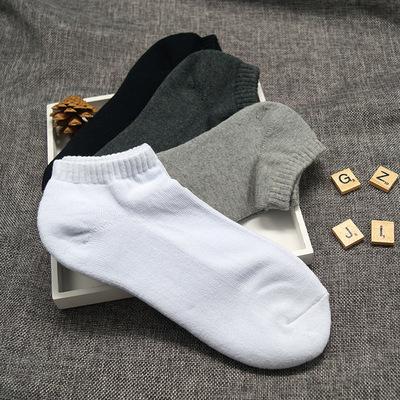 嘉和袜业 毛圈加厚运动袜 秋冬吸汗加厚船袜 短筒运动纯棉袜子
