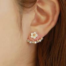 韩版雏菊花后挂式耳钉 耳针 热销夸张 耳饰 防过敏饰品耳环 B007