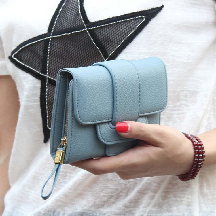Korean version of style PU leather Synthetic Leather fashion purse black NHNI0203