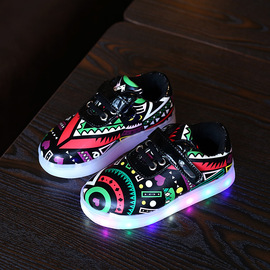 Spring New Style Children LED Light Shoes Girls Shoes Baby Shoes Boy Luminescence Casual Shoes Tide