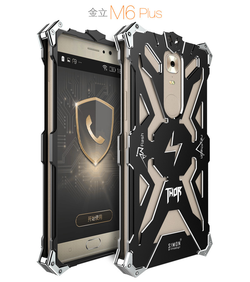 SIMON THOR Aviation Aluminum Alloy Shockproof Armor Metal Case Cover for Gionee M6 Plus & Gionee M6