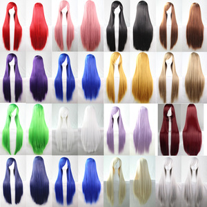 Wavy Hair Wigs Cos wig color long straight hair Cosplay wig animation pin cm wig