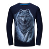 2017 spring and autumn men's long sleeved T-shirt, youth large size leisure base shirt, 3D effect T-shirt, casual men's