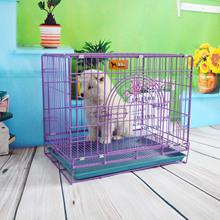 折叠加粗泰迪狗笼比熊萨摩铁笼子中大型猫犬宠物笼鸡兔笼