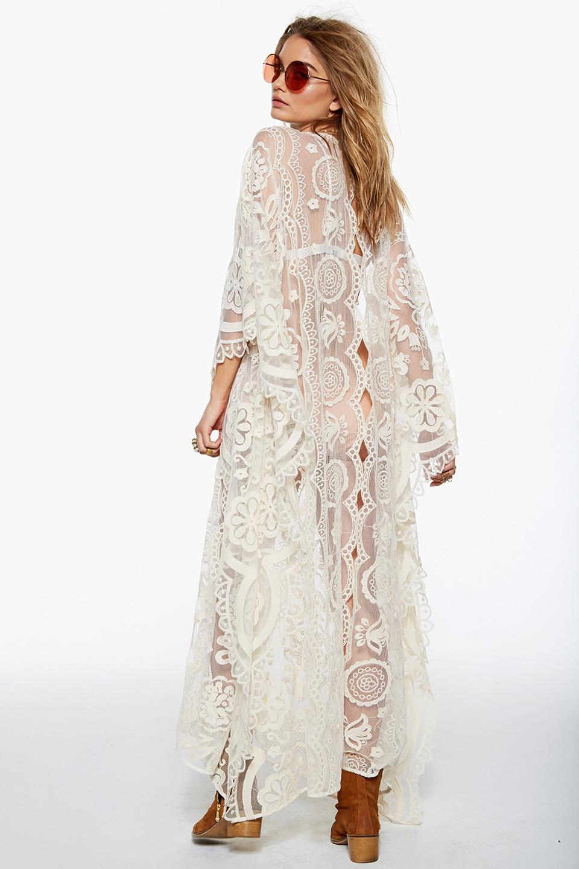 Lace Fashiondress(White - One Size) NHDF0366-White - One Size