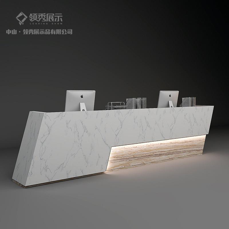 厂家异形LED灯收银台公司形象收银前台 欧式创意服装店接待台定制