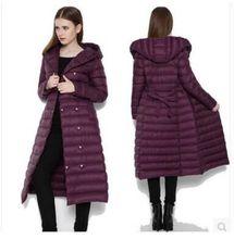 冬季2018 新款時尚韓版超加長款過膝輕薄連帽修身羽絨服女外套
