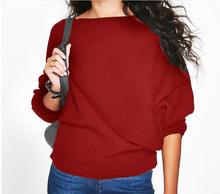 跨境货源ebay wish 亚马逊 秋冬时尚宽松蝙蝠袖螺纹长袖T恤