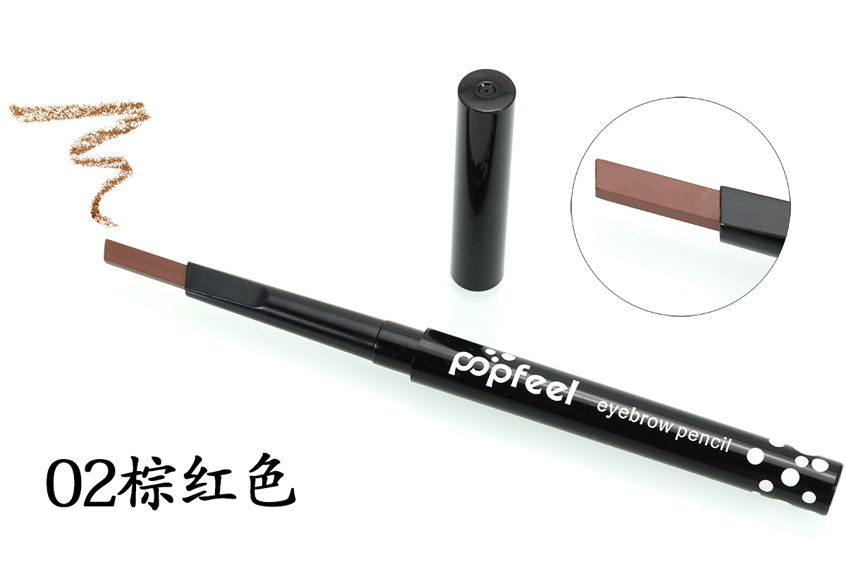 POPFEEL Eyebrow Pencil & Brush Eyebrow Enhancer Long Lasting Makeup Pencil To Eye Waterproof Eyebrow Brush Make UP Tool maquiage