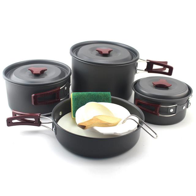 户外炊具 多人组合套锅 野炊套锅 硬质氧化处理