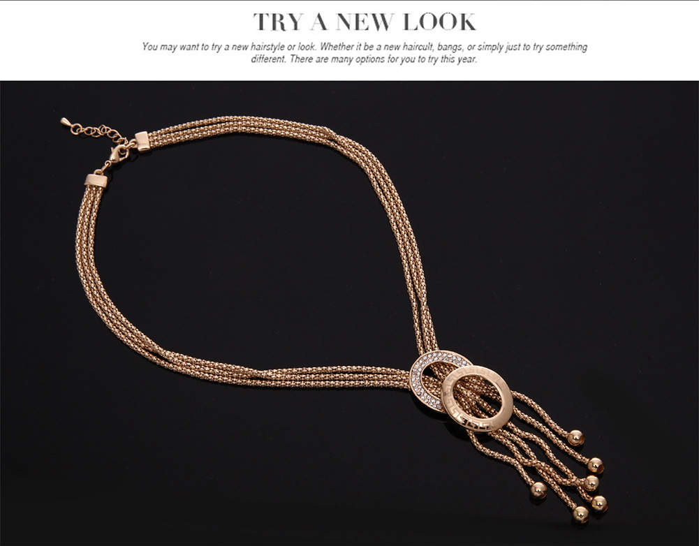 Occident alloy Drill set earring + necklace + Bracelet NHXS0559