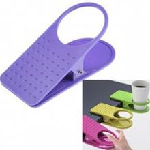 新款创意桌边水杯夹夹式杯?#20852;?#26479;架办公室餐桌用品