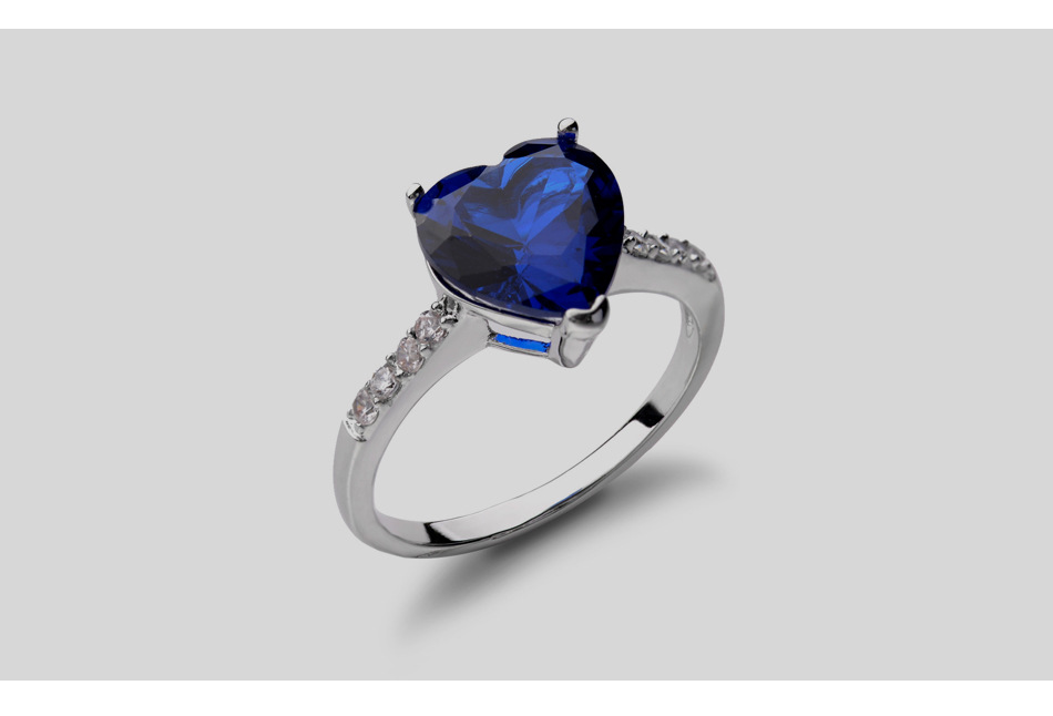 New fashion simple heart ring hot sale zircon ring jewelry wholesale NHLJ195270