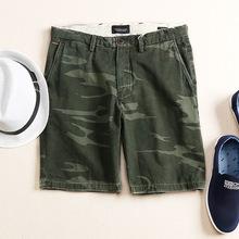 17夏季新品 街头军旅风 个性迷彩 舒适水洗纯棉百搭男士休闲短裤
