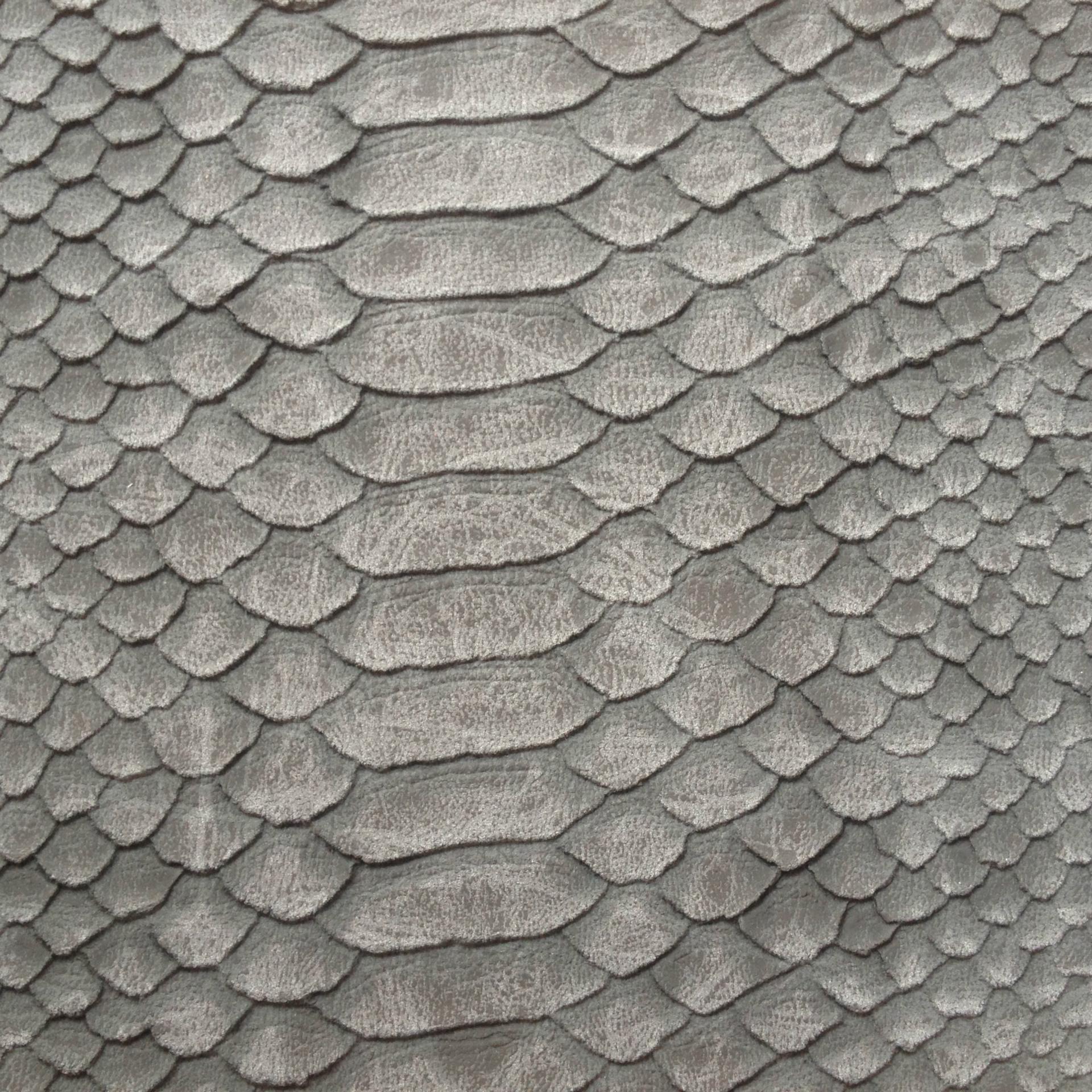 供应高档仿古蛇纹皮革 磨砂蛇纹PVC皮革 鱼鳞纹蟒蛇纹皮革
