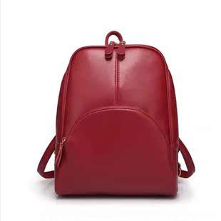 一件代发2016新款双肩包女夏休闲旅行包配牛皮书包小背包学院风潮