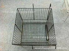 車間零部件運輸筐 金屬網籃 周轉箱 鐵線的黑色工業用籃 物料框
