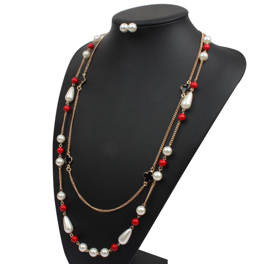 Korea PearlNecklaceAnimal (red)NHCT0184-red