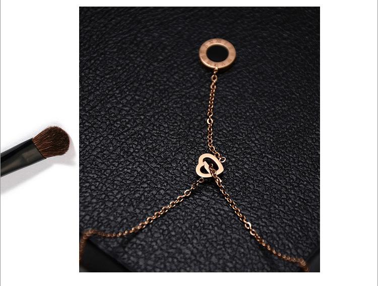 Womens Heart Shaped Titanium Steel Necklaces OK190423118940