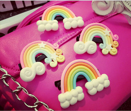 Korea cute cartoon three-dimensional rainbow cloud hairpin jewelry side clip word clip children hair clip hair accessories