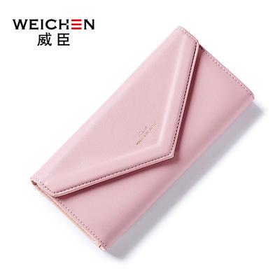 Wesson new ladies dài Nhật Bản và Hàn Quốc phong cách thời trang phong bì khóa sinh viên thẻ nhiều phụ nữ đơn giản của ví triều
