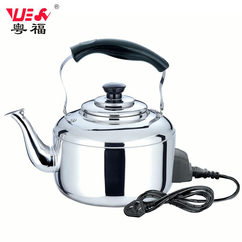 粤福厂家不锈钢水壶5L 无磁鸣笛中宝水壶 加厚电热烧水壶 开水壶