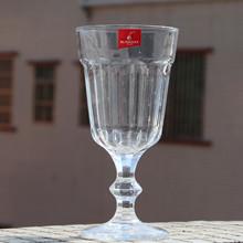 麗尊創意高腳紅酒杯 透明平光玻璃 葡萄酒杯 果汁奶昔飲料杯子