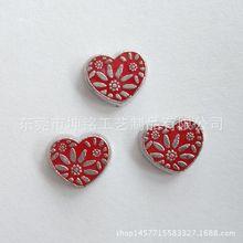 可打开相盒吊坠红色心形内装配件 可定制 玻璃盒子小饰品配件
