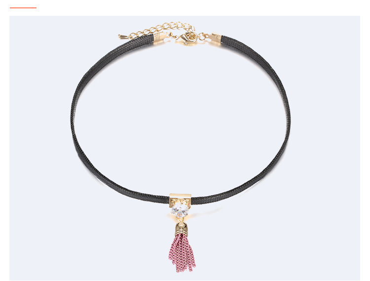 Alloy Fashion Geometric necklace  (Alloy + pink) NHTF0226-Alloy-pink