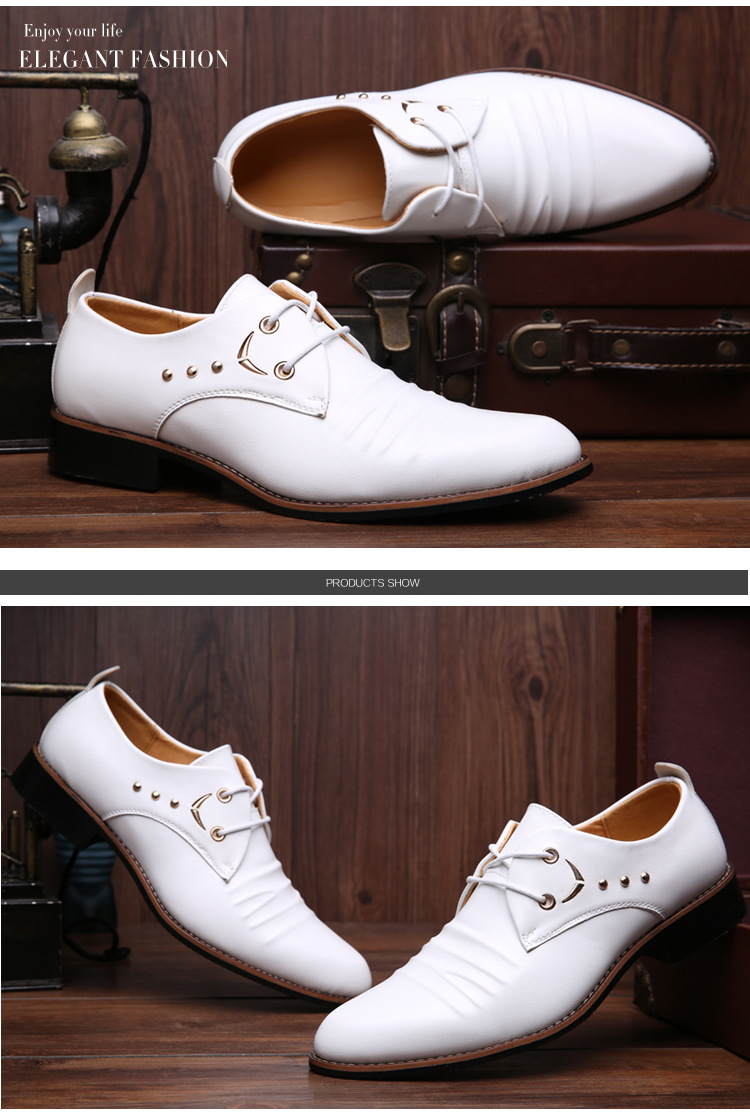 Mens Business Shoes Genuine Leather Mens Dressing Shoes ...