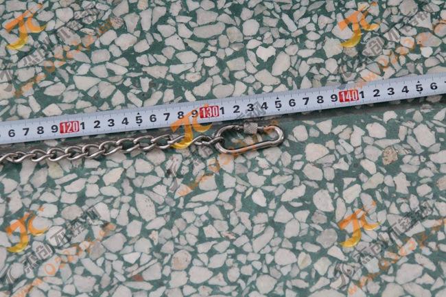 客户定制304不锈钢宠物链牵引链 3mm不锈钢扭链 溜狗链