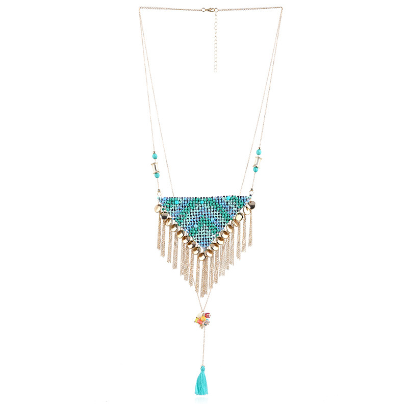 Occident and the United States Plastic / resinnecklace (Color as shown) NHKM2254