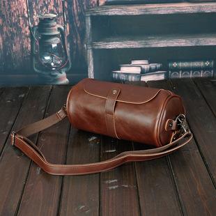 Оптовая торговля новый корейский моды ретро тенденция малый кожаный пакет crazy horse мужской мешки личность дизайн немного назад пакет