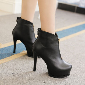 Women short boots fine round head Martin boots for women's shoes