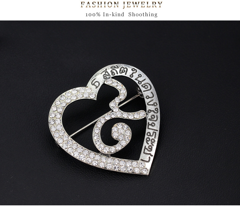 Thailand alloy plating brooch (Silver)NHDR1916-Silver