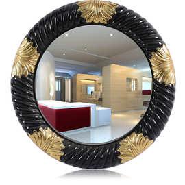 厂家供应欧式PU发泡镜框美发镜台理发店镜子雕花浴室镜酒店装饰镜