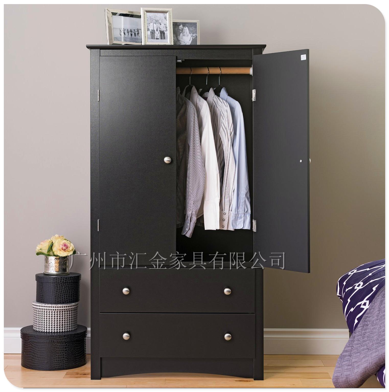 新品推荐 W-209www.35222.com简约实用两门三抽衣柜衣橱 组合衣柜可定制