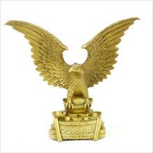 开光铜雄鹰摆件大展宏图老鹰大鹏展翅大展鸿图金属工艺礼品铜器
