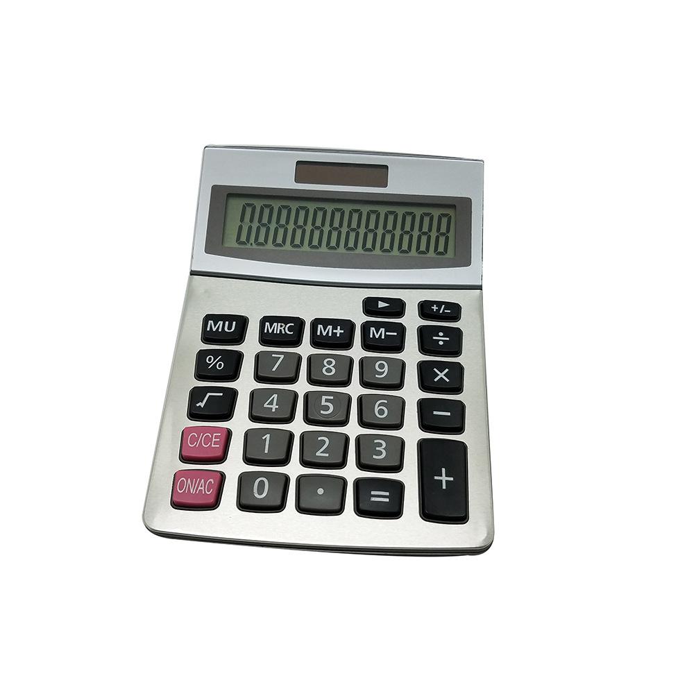 太阳能计算器 12位数双电源桌面台式计算器 可定制 办公计算器