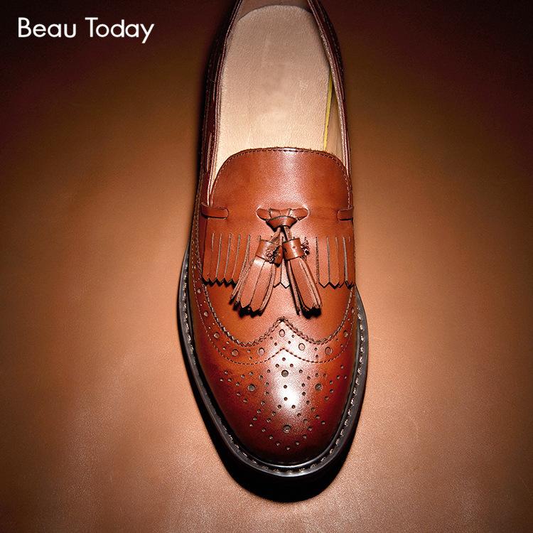 欧洲站2016头层牛皮女鞋布洛克雕花英伦复古平底流苏单鞋温州皮鞋