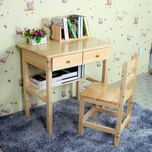 包邮?#30340;?#26700;子学习桌电脑儿童桌椅松木写字台成人办公桌组合可定制
