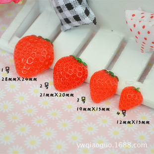 Cell phone beauty diy resin accessories children's hair accessories accessories simulation resin strawberry factory direct wholesale