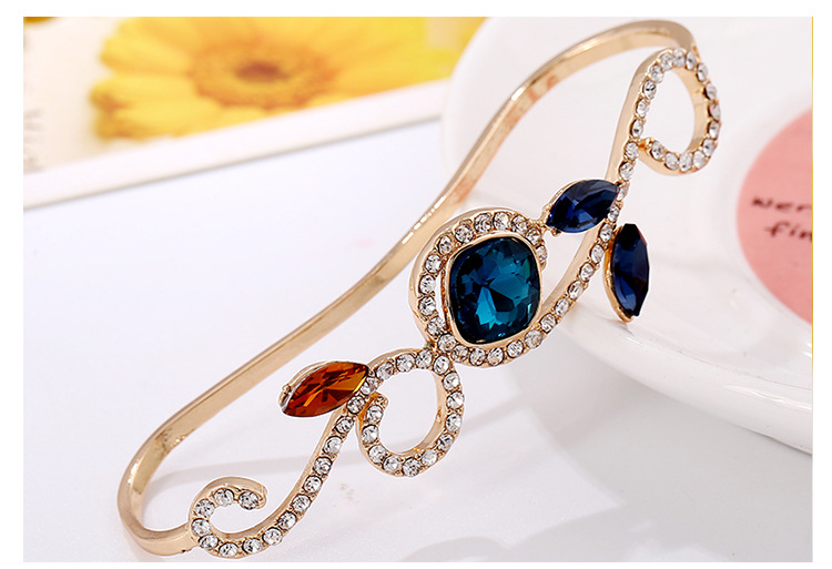 New Hollow Leaf Flower Palm Ring Luxury Diamond Palm Ring Bangle NHKQ194206
