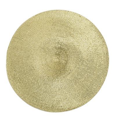 外贸工厂专业生产颜色齐全款式新颖的金银丝线草编PET餐垫
