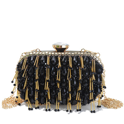 Heavy industries in Europe and America fashion wampum dinner packages High grade set auger beads evening bags's main photo